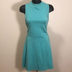 Turquoise vanity room mod A line dress